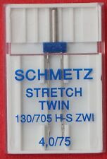 Schmetz Stretch Twin Needle 4.0/75.. for stretch fabrics and synthetics