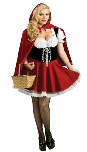 Christmas/Halloween Costume Sexy Ladies Little Red Riding Hood Fancy Dress S-4XL