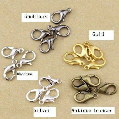 50pcs Alloy lobster Clasp Hooks For Jewelry Making Necklace Bracelet Findings