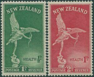 New-Zealand-1947-SG690-691-Health-Statue-of-Eros-set-MNH