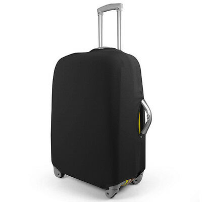 "24"" Travel Luggage Trolley Suitcase Protection Cover Elastic Dust-proof Black"