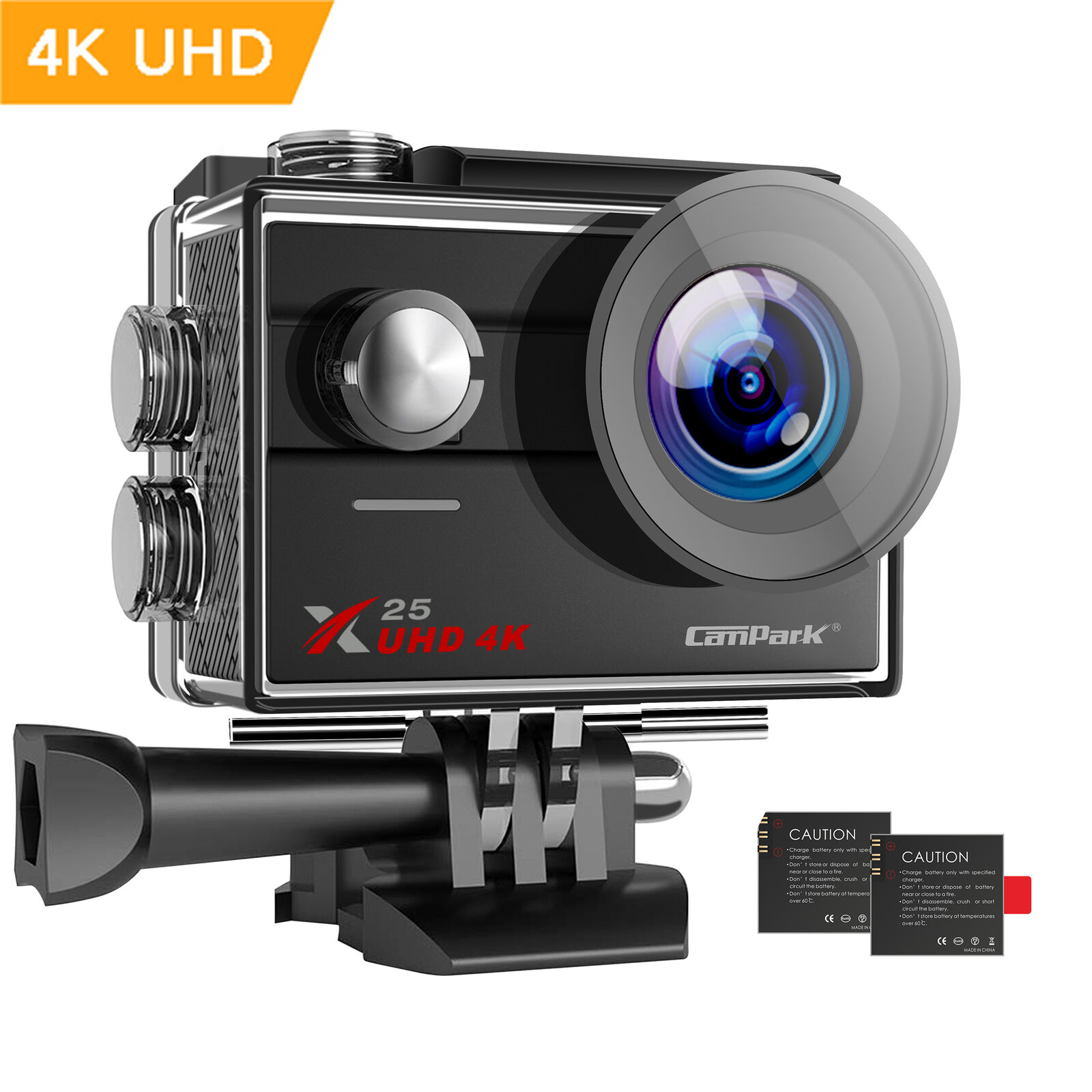 Campark X25 4K Action Camera Ultra HD WiFi Sports Cam Waterproof 30M Camcorder 30m action cam camera campark sports ultra waterproof wifi x25