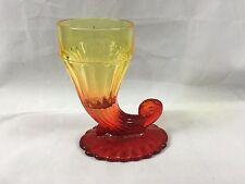 Jeannette Glass Amberina Cornucopia Horn of Plenty Vase E006