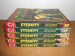 ETERNITY vol. 1-5 Manga Manhwa Graphic Novel Book COMPLETE Lot in English