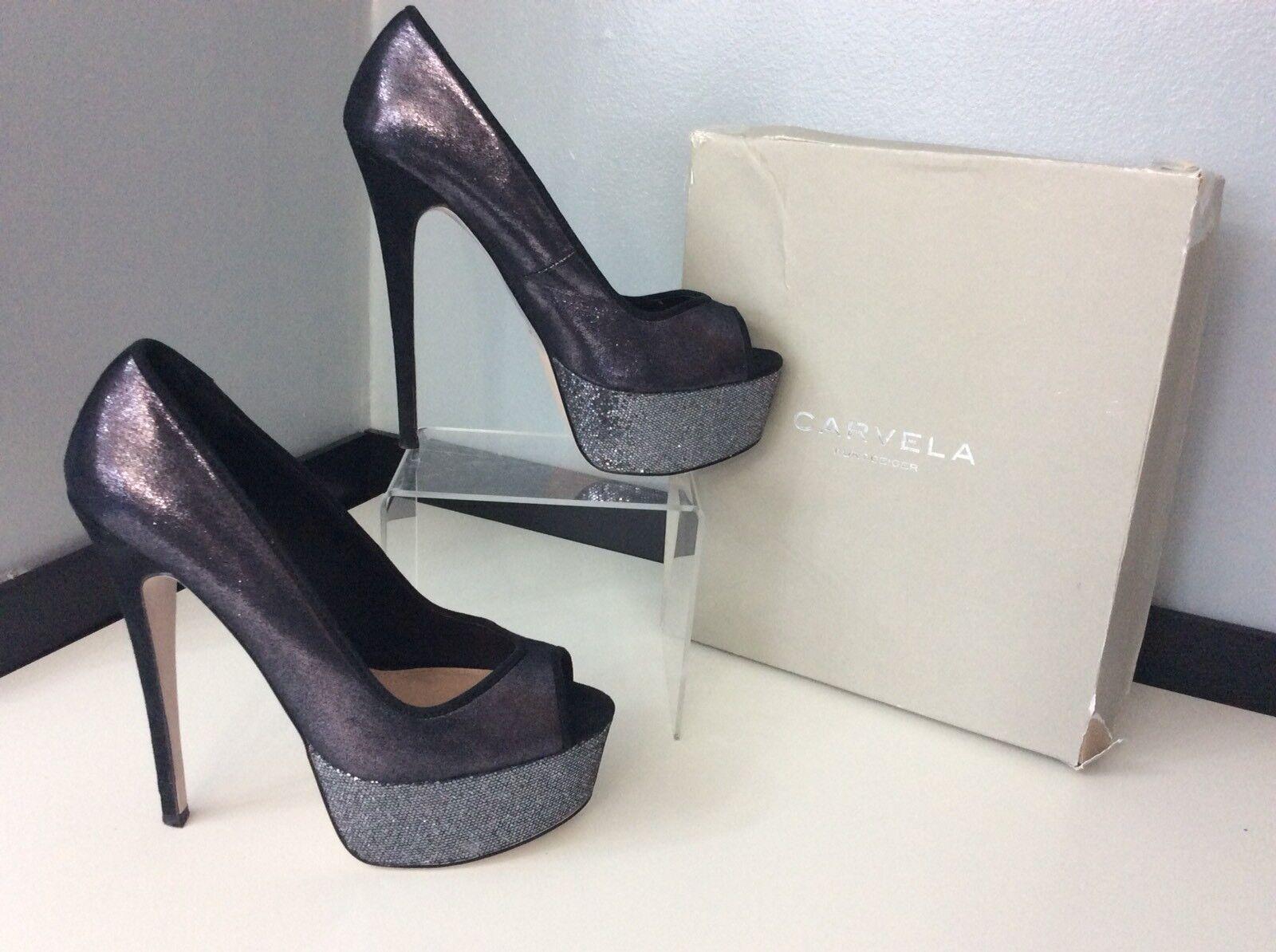 Carvela Kurt Geiger femme haut talon chaussures UK 6 Eu39 raisin, bout ouvert, très bon état