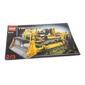 1x-Lego-Technic-Bauanleitung-A4-Heft-2-Model-Construction-Bulldozer-8275
