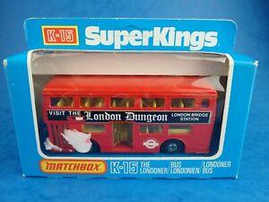 DIE-CAST-MATCHBOX-K-15-Londra-Bus-Londinese-il-1979-SUPERKINGS-in-Scatola
