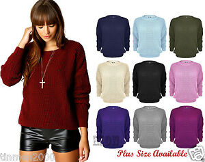 WOMENS-BAGGY-JUMPER-KNITTED-SWEATER-CHUNKY-PLUS-SIZE-81012141618222426