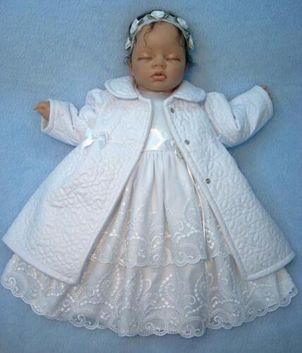 Jacke Taufe Weiß Mädchen Babyjacke 62 68 NEU Mantel gesteppt Übergang