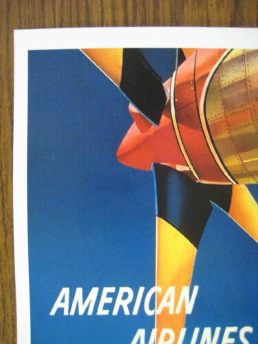 """FLAGSHIP 11/"""" x 17/"""" Collector/'s Travel Poster Print American Airlines B2G1F"""