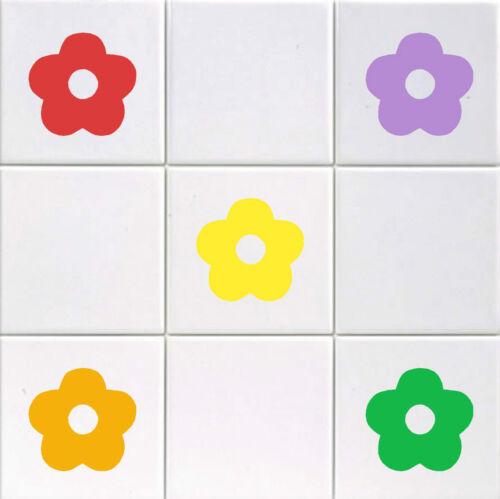 Fleur-Vinyle Carrelage Stickers