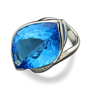 Mousseux Tanzanite Blue Opal 925 Sterling Silver Ring Taille 6