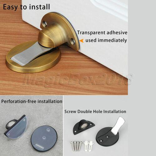 1Pc Stainless Steel Magnetic Door Stops Stopper Holder Catcher Buffer 6 Colour