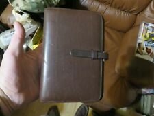 New Listingvintage Coach Day Timer Classic Leather Planner Notebook 75x 5 6 Ring Brn