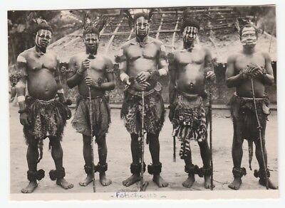 Besorgt A) Frühe Echtfoto-postkarte, Studio R. Pauleau, Douala, Kamerun, Beschnitten,`30