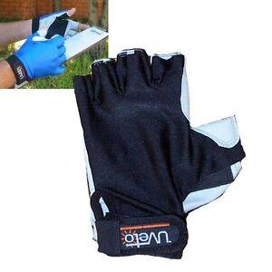 Uveto UV Sun - Kayak - Driving Protection Gloves Black or Blue Sizes XS-XL