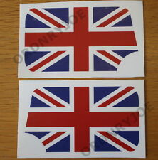 Classic (Austin) Mini Union Jack door mirror decals/stickers