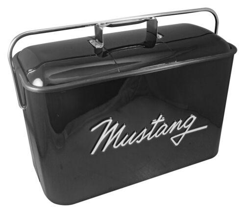 Vintage Ford Mustang Metal Cooler BLACK