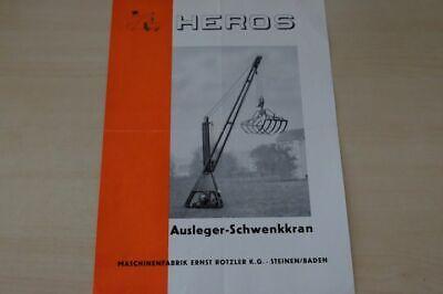 Prospekt 195? Heros Responsible 197785 Schwenkkran