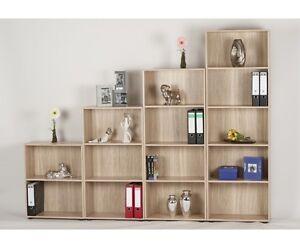 regal stauraumregal b cherregal office eiche s gerau alle gr ssen w hlbar ebay. Black Bedroom Furniture Sets. Home Design Ideas