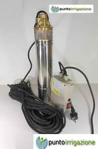 Pompa-sommersa-per-pozzi-da-4-034-SQM-elettropompa-HP-1-o-HP-1-5-girante-OTTONE