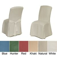 Classic Slipcovers Cotton Duck Parsons Chair Slipcover Pair