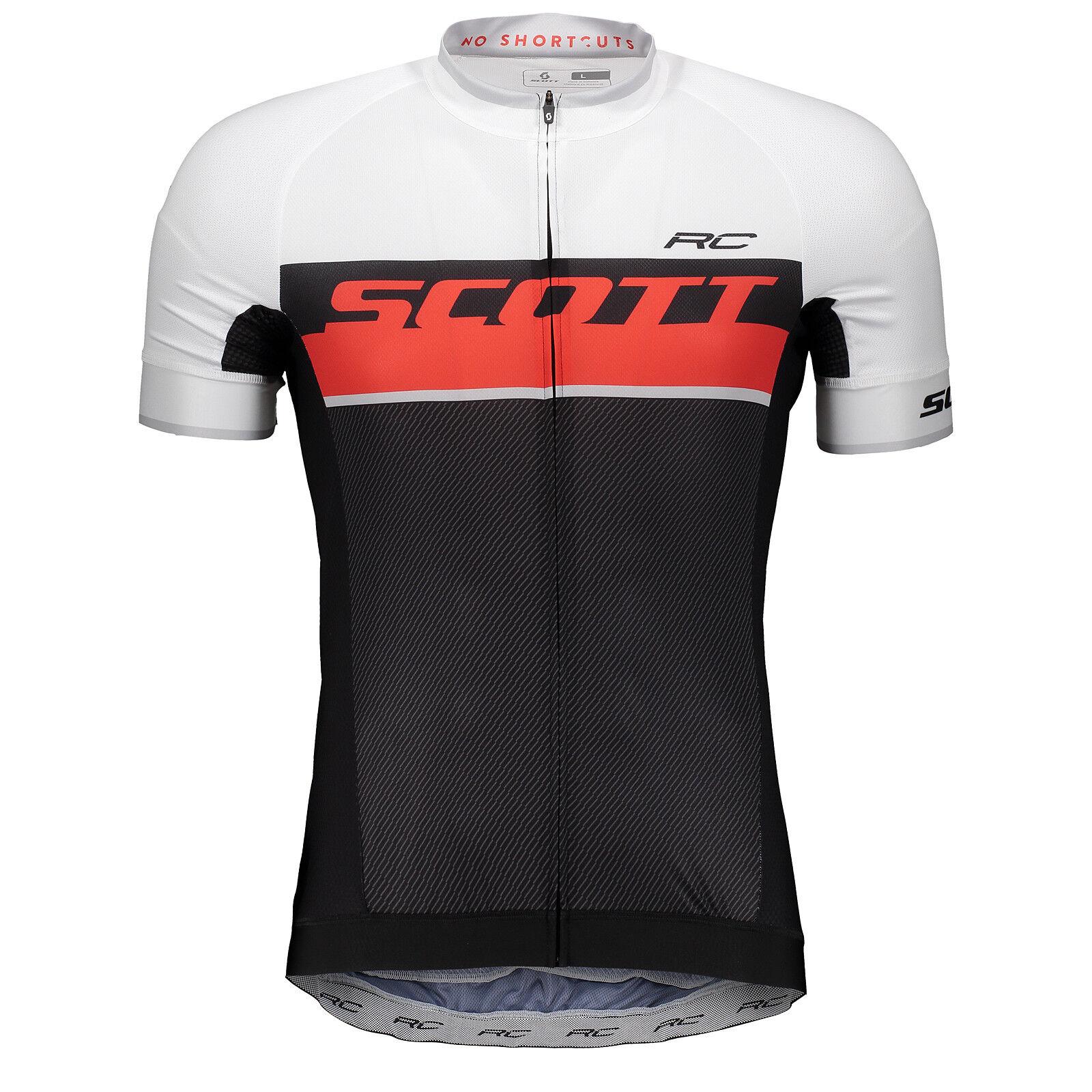 Scott RC Pro Fahrrad Trikot kurz Schwarzrot 2018