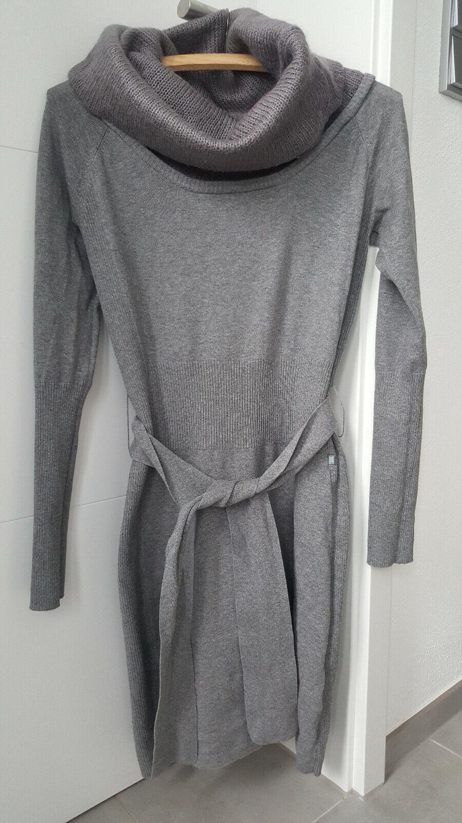 DEPT Gr. 36 S 38 M Strickkleid Wollkleid Rollkragen Pullover Longpulli Minikleid