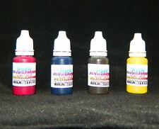 Fluorescent SUBLIMATION UV glow ink for Epson inkjet printers 10ml x 4 set
