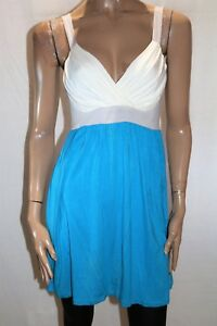 Imprint-Brand-Blue-White-Color-Block-Babydoll-Dress-Size-14-BNWT-DEC1