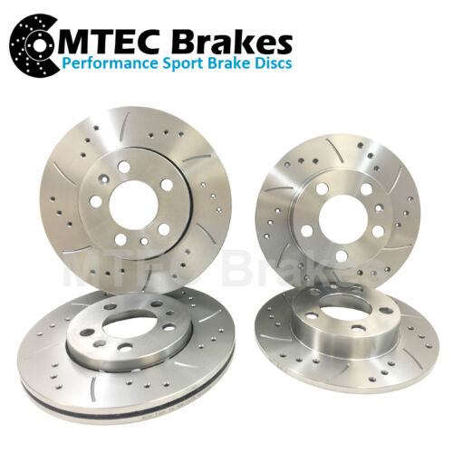 Drilled Grooved Front /& Rear Brake Discs Audi A7 2.8FSi 3.0TDi 200-215bhp 2010
