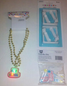 Image Is Loading Happy Birthday Party Supplies Light Up Necklace Cupcake