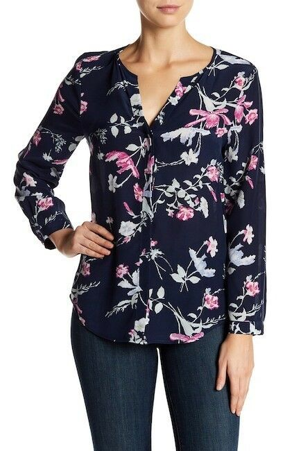 Joie Floral Silk Blouse- Size M- NWOT Retail 265