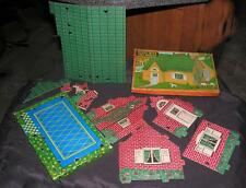 """VTG 1930'S BUILT RITE COMPLETE CARDBOARD TOY 8"""" DOLL HOUSE IOB, EX COND"""