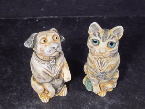 Harmony Kingdom PET PARADE Ltd Ed 2PC CAT AND DOG #TJLEC99F mib
