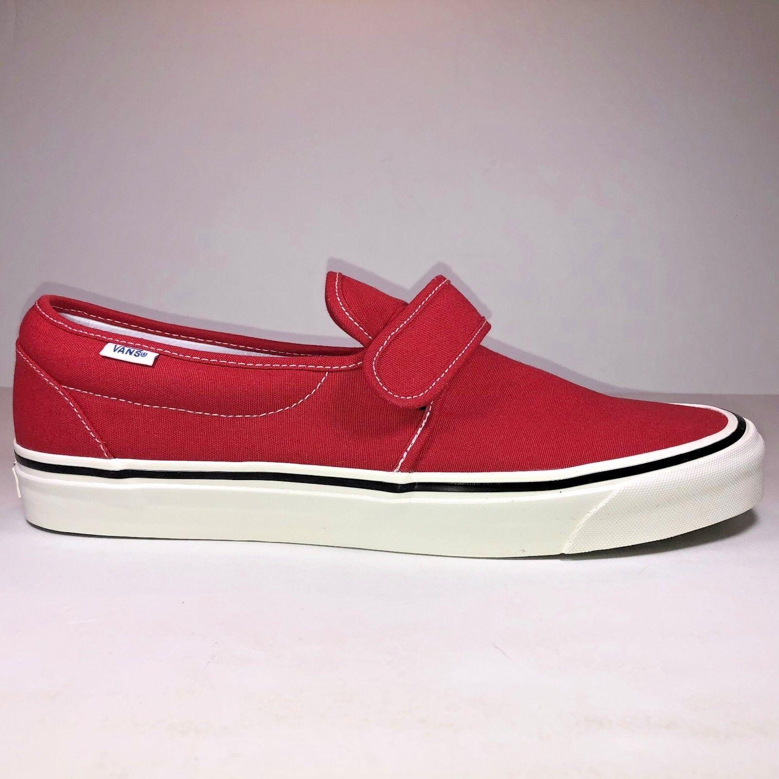Vans Men Size 6.5 Slip On 47 V DX Anaheim Factory OG Red Sneaker New VN0A3MVAR3V