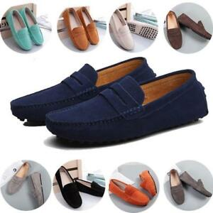 06b92d03d Image is loading Womens-girl-Driving-Loafers-Suede-Leather-Moccasins-Slip-