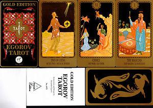Egorov-Tarot-Gold-Edition-1992-Nr-1975-Rar-Sammler-OVP