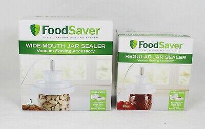 FoodSaver Wide-Mouth Jar Sealer and Regular-Mouth Jar Sealer Bundle