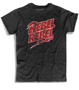 92ec1c7aebf4a9 Men's T-Shirt Rebel Rebel David Bowie Lightning Lightning Ziggy ...