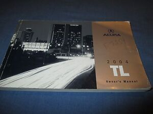 2004 acura tl owners manual ebay rh ebay com 04 acura tl service manual 2004 acura tl owners manual