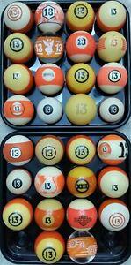 #12 Ball Pool Ball 1500 VINTAGE & ANTIQUE BILLIARD BALLS IN STOCK Clay & Aramith Billiards