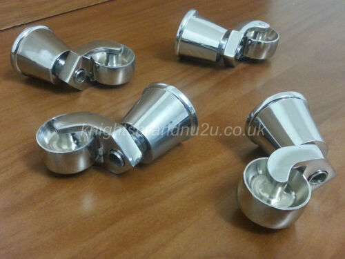 CASTOR SOCKET & CUP IN BRASS/CHROME : FEET/LEGS : SETTEES, SOFAS, CHAIRS, STOOLS