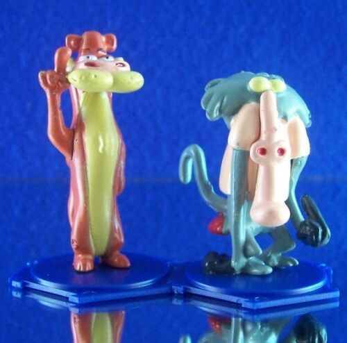 NEW RETIRED CARTOON NETWORK I AM WEASEL MINI FIGURE SET WEASEL & BABOON FAVORS