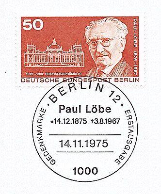 Berlin 1975: Paul Löbe Nr. 515 Mit Sauberem Ersttags-sonderstempel! 1a! 1510