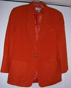 Jacket Coat size Blazer Alexander Lauren Blend 1980's Wool Medium Vtg w7YwqfX