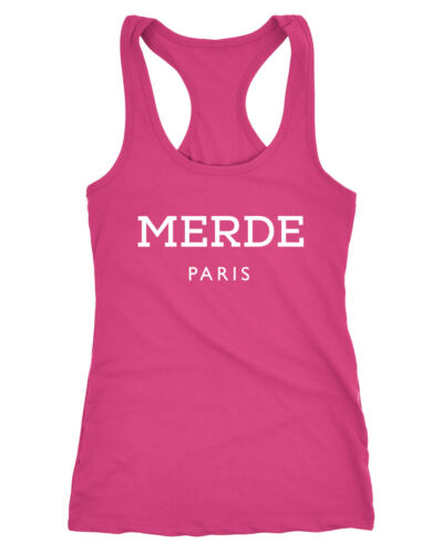 Freches Damen Tank-Top Shirt Merde Paris Racerback Moonworks®