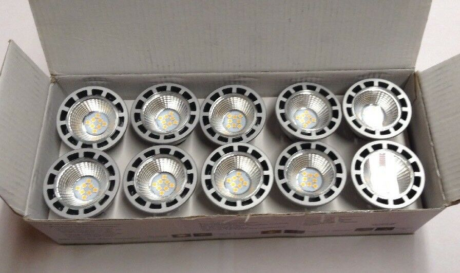 10x MR16 7.5W 60W Equivalent Dimmable Day White 5000K 12V LEDs