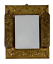 miniature 1 - Antique Embossed Brass Plate Vanity Dressing Wall Mirror Hanging Brushes Vintage