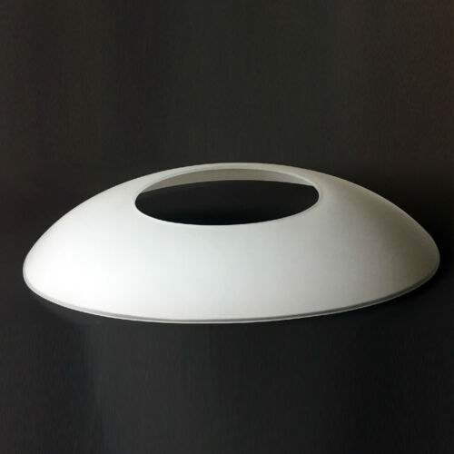 Verre abat-jour Ersatzglas Glasschirm couvertures de Coquille Ovale Blanc